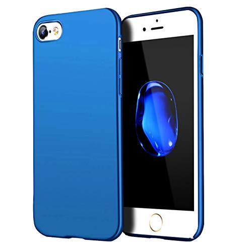 Compatible for iPhone 6 /iPhone 6S Case,Anti-Fingerprint,Matte Finish Comfortable Silky Smooth Touch Great Grip Feeling Slim-Fit Ultra-Thin Anti-Scratch Shock Proof Anti-Finger Print TPU Case-Blue