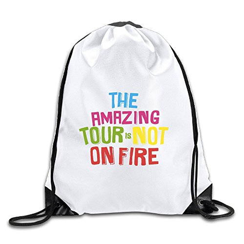 FOODE The Amazing Tour Is Not On Fire Travel Quotes Drawstring Backpack Sack - Bags On Sale Oakley