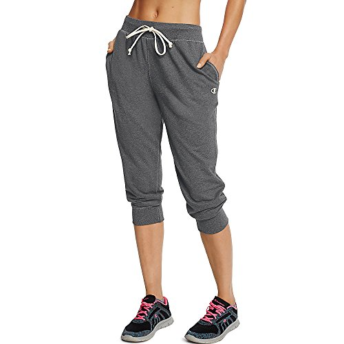 Champion Women's French Terry Jogger Capri_Granite Heather_XL