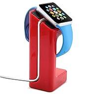 GadgetinBox: - Rouge (Apple Watch Station de Charge) Docking accueil Desktop Chargeur Montre station Cradle Stand For Apple Watch iWatch - 38mm et 42mm toutes les tailles