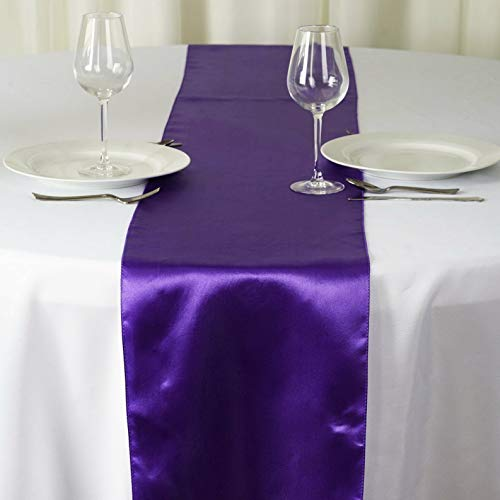 - Mikash 10 Pack ~New~ Satin Table Runner Wedding Party Banquet Decoration 15+ Colors! | Model WDDNGDCRTN - 19677 |