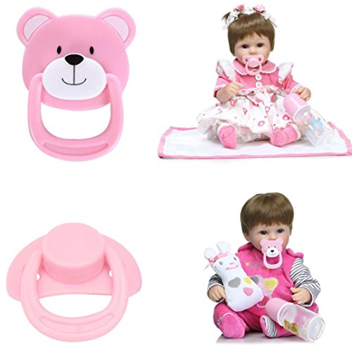Gbell 2PC Dummy Nuk Soother Wubbanub Pacifier For Reborn Bab