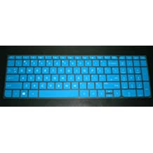 """BingoBuy® Semi-Blue Ultra Thin High Quality Silicone Keyboard Protector Skin Cover for HP ENVY TouchSmart Sleekbook m6-k*** 17-j*** 17t-j*** 17-e*** m7-j*** series, such as m6-k015dx, m6-k010dx, m6-k022dx, m6-k025dx, 17-j020us, 17-j037cl, 17t-j000, 17-e020us, m7-j010dx, m7-j020dx(if your """"enter"""" key looks like """"7"""", our skin can't fit) with BingoBuy Card Case for Credit, Bank, ID Card"""