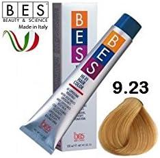 BES - Tinte Hi-Fi Color, 9.23 rubio claro medio irisado dorado, 100 ml