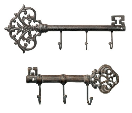 Grasslands Road Metal Key Wall Hook Assortment, 9-Inch, Set of 4