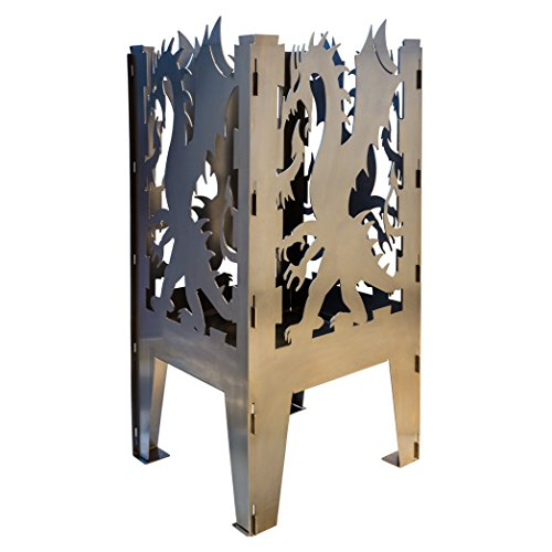 Curonian FBDragon Dragon Solid Steel Wood Burning Fire Pit