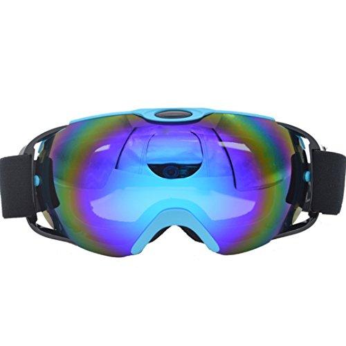 Ski Goggles, Ravifun Over Glasses Skate Snowboard Goggles with Hard Case UV Protection Dual Lens for Men Women & Youth Snowmobile Skiing Skating, - Ski Glasses Prescription