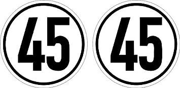 10cm 2stück Aufkleber Folie Wetterfest Made In Germany 45 Kmh Begrenzung Stvzo 58 Svg Schriftart Dedin 1451 S480 Uv Waschanlagenfest Auto Sticker Decal Profi Qualität Auto