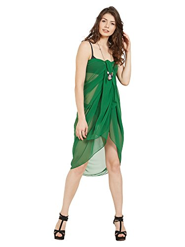 ELINA FASHION Sarongs Womens Faux Georgette Sexy Swimsuit Beach Bath Wrap Cover-up (Green)