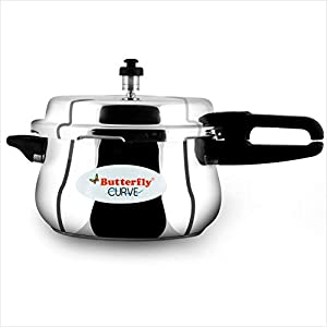 Butterfly Curve Stainless Steel Pressure Cooker, 5.5 Litre