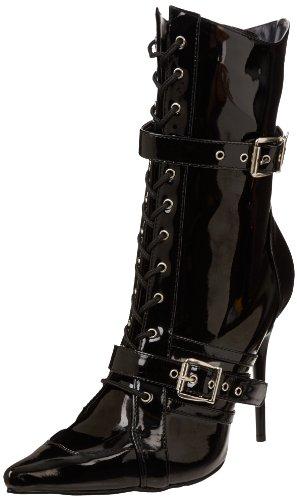 Sexy Heels Milan Blk Stiefel geschnittene 45 High Pat 1022 spitz 35 Pleaser qREax