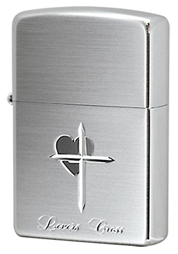 (Zippo Lovers Cross/Silver Plate SatinFinish)