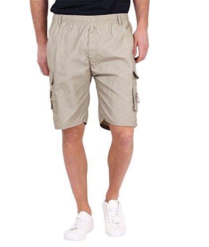 KRISP Men's Cotton Cargo Summer Shorts Stone M - Shorts Carpenter Boys