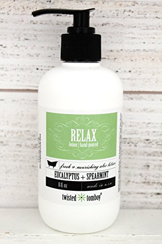 Eucalyptus+Spearmint Fresh, Nourishing  Moisturizing Aloe Lotion 'Relax' – 99% Natural  Paraben Free – Perfect For Dry Hands, Face and Body HANDMADE…