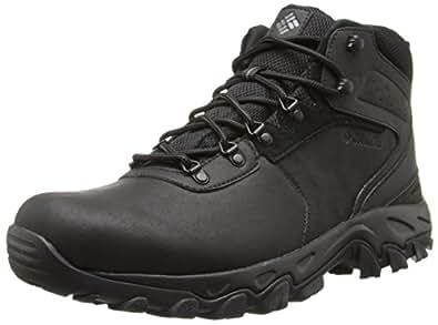 Columbia Men's Newton Ridge Plus II WP Hiking Boot, Black/Black, 10 D US