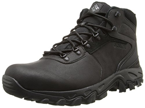 Columbia Men's MEN'S NEWTON RIDGE PLUS II WATERPROOF Boot, Black, Black, 7 Regular US