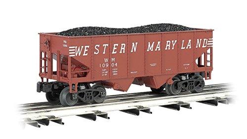 Bachmann-USRA 55-Ton 2-Bay Hopper w/Load - 3-Rail - Ready to Run - - Rail 2 Hopper