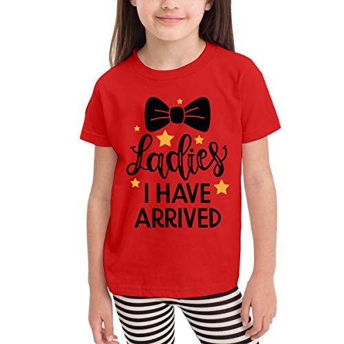 (ACEWIS Unisex Ladies I Have Arrived Kids Children Organic Short-Sleeve T Shirt Tee for Boys&Girls Red)