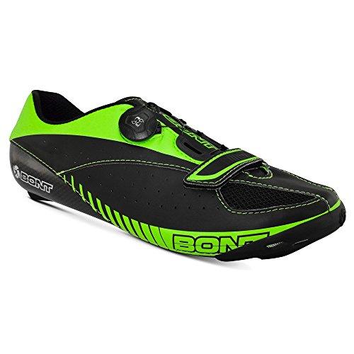 Bont–Blitz Road Schuh 3K Carbon belüftet Hitze formbare Boa, schwarz/lime schwarz/lime