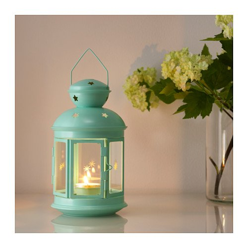 Ikea ROTERA 21cm Lantern for tealight,Suitable for both indoor and outdoor use. Black