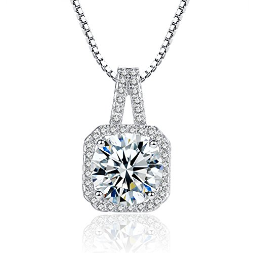 Tycherous Ladies fashion Necklace silver 925 Pendant women Cubic Zirconia Mother's Day Gift by Tycherous