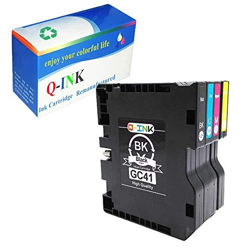 Q-Ink 4 Pack for Ricoh GC-41 Heat Transfer SUB Compatible Ink Cartridge  High Capacity for Ricoh Afico SG2100 SG2010N SG3100 SG3100DN SG3110SFNW  SG7100