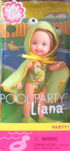 (Barbie Kelly Club Liana Pool Party Doll with Frog Outfit)