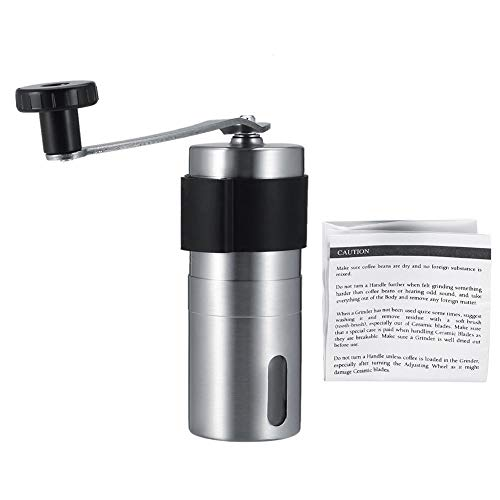 Pasamer Manual Stainless Steel Coffee Beans Grinder Portable Herbs Pepper Spice Mill Grinding Tool(01)