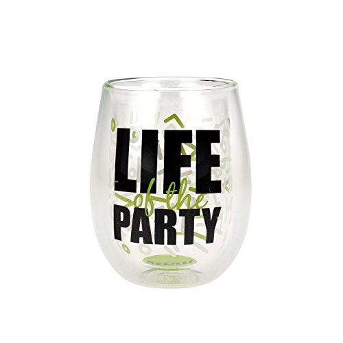 """Top Shelf Double Wall Stemless """"Life of the Party"""" Wine G..."""