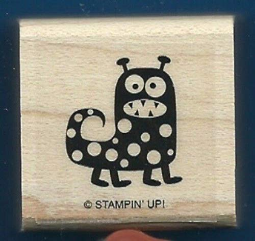 Rubber Stamp Frames Monster DOTS Scary Halloween New Spooky Bingo Bits Rubber Stamp