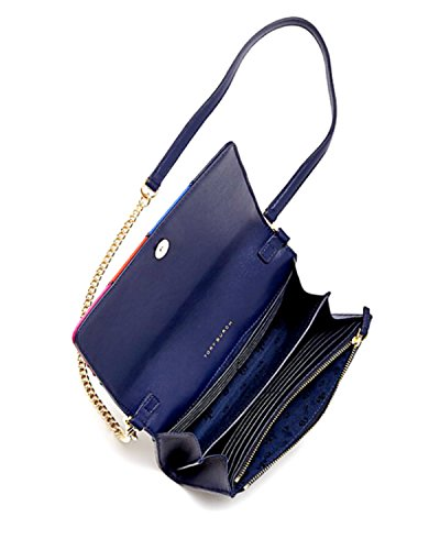 Tory Crossbody Diamond Handbag Stitch Wallet Chain Leather Burch CTCqPwrf