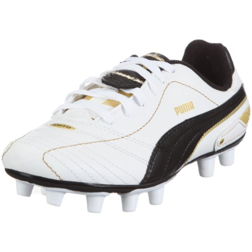 Puma Esito definitiva i fg jr 102014 Unisex zapatos de los deportes fútbol infantil Negro (White - Black - Gold)