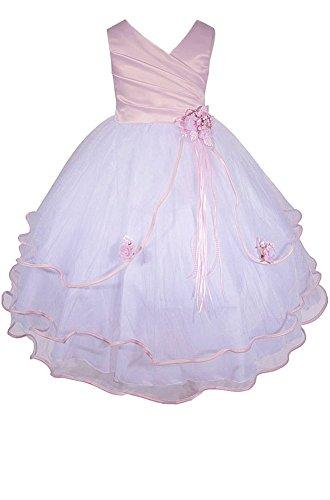 Easter Wedding Pink Girls' Pageant Dresses AMJ Dress Communion Girl Flower Little Inc xU0wxRTq