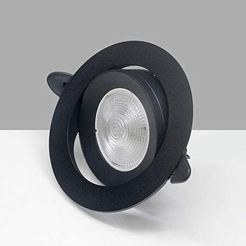 NOLOGO YBright COB Embedded Ceiling Light Ultra-Thin 27mm Spotlight 7W LED Downlight 120 Beam Angle Rotation Adjustable Small Display Cabinet Shelf Ceiling Lighting Cut Out 90-100mm Wall Washer