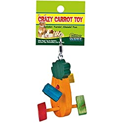 Ware Manufacturing Pine Wood Crazy Carrot Small Pet Chew Toy, Small
