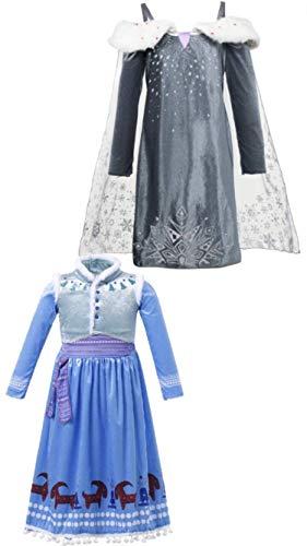 FashionModa4U Frozen Adventure Girls Costume Dress Elsa&Anna, 5. for $<!--$39.95-->