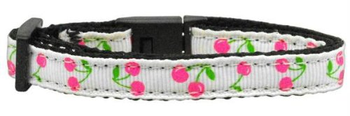 Cherries Nylon Collar White Cat Safety Case Pack 24 Cherries Nylon Collar Whi...