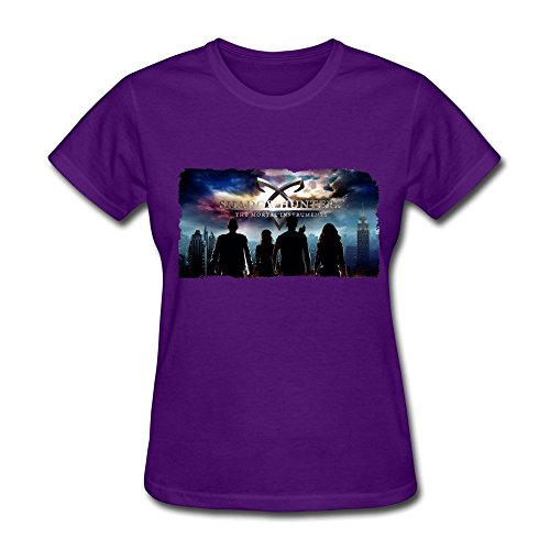 Shadowhunters The Mortal Instrument Poster T Shirt For Women Purple