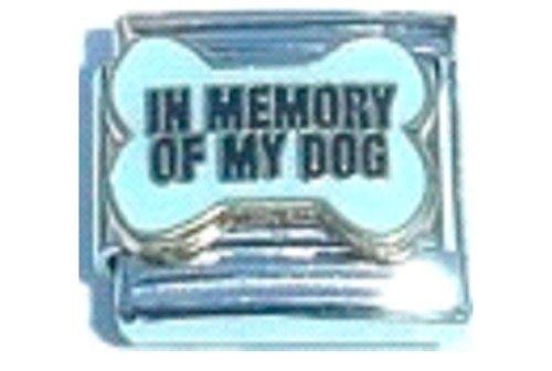 Stylysh Charms in Memory My Dog Enamel Italian 9mm Link DG426 ()