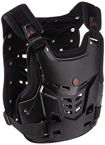 Street Body Armor - A.B Crew Motorcycle Body Armor Adult Street Bike Chest Protector Off-Road Dirt Bike Vest Protector (Black)