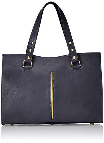 CTM Sac femme classique, 38x27x12cm, cuir véritable 100% Made in Italy Bleu (Blu)