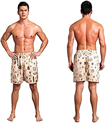 Men Silk Satin Pajama Sleepwear Homewear Robes Boxer Shorts Loungewear Underwear