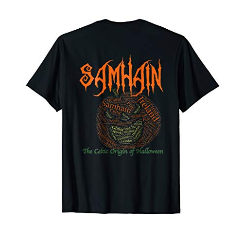 Samhain The Celtic Origin of Halloween Pumpkinhead T-shirt]()
