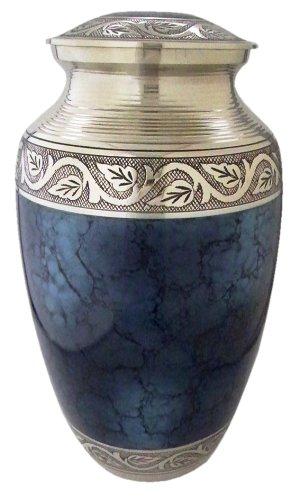 Grecian Blue Plus Size Cremation Urn ()