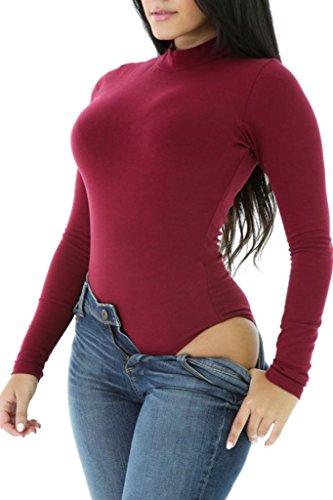 HOTAPEI Stretch Turtleneck Bodysuit Lingerie