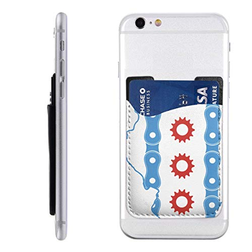 Chicago Flag in Illinois State 3M Adhesive Ultra Slim Cell Phone Card Holder Back, Stick On Card Wallet Sticker for iPhone Android Smartphones ()