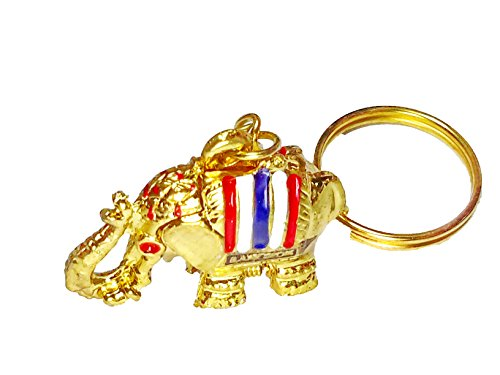 Super Lucky Elephant Key Chain Secret Hidden Pill Box Locket Gold Color