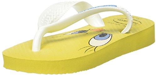 citrus Tunes Looney Amarillo Yellow Havaianas Chanclas Para Niños Unisex Unq6xH