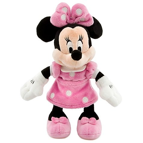 """Disney 8"""" Minnie Mouse in Pink Dress Plush"""