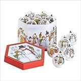 1 Dozen Let It Snow Christmas Holiday Ball Ornaments